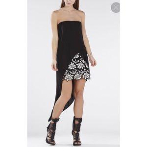 BCBG MAXAZRIA Strapless Asymmetrical Dress